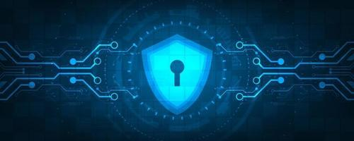 fundo de tecnologia de vetor no conceito de sistemas de segurança.