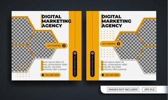 modelo de postagem de mídia social com tema de agência de marketing digital vetor