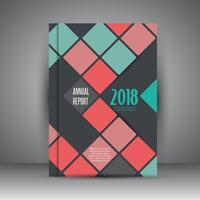 Design de relatório anual de negócios vetor