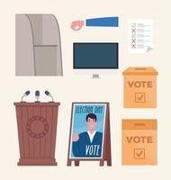 ícone de eleição definir desenho vetorial vetor