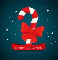 banner de feliz natal com desenho vetorial de bengala vetor