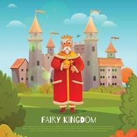 ilustração plana do reino vetor