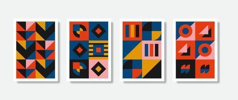 formas geométricas gráficas de cartaz projetam obras de arte na moda. ilustração gráfica do belo padrão. vetor pronto para imprimir.