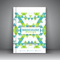 Design de brochura de baixo poli vetor