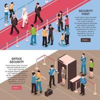 banners isométricos de segurança vetor