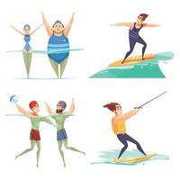 conceito de design de esportes aquáticos vetor