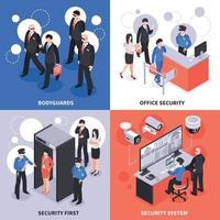 conceito de design de segurança isométrica vetor
