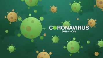 coronavírus 2019-ncov e histórico de vírus. vetor