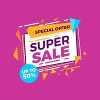 oferta especial de venda de banner