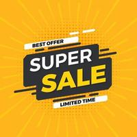 oferta especial banner venda promoção web market poster vector arquivo