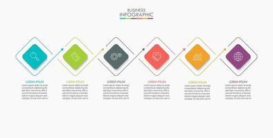 infográfico de formato quadrado com 6 opções vetor