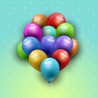 Bando de fundo de balões vetor