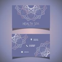 Design de cartão de visita decorativo vetor