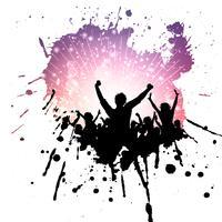Fundo de multidão de festa grunge vetor