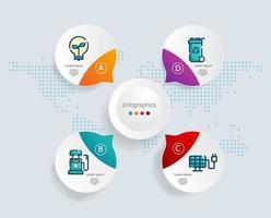 infográficos abstratos, 4 etapas para negócios e apresentação vetor