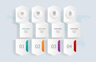 infográficos abstratos de linha do tempo horizontal, 4 etapas com mapa mundial para negócios e apresentação