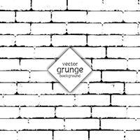 Fundo de parede de tijolo de grunge vetor