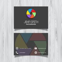 Design de cartão de visita de fotografia vetor