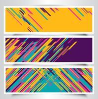 Desenhos de banner moderno