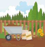 material de jardinagem design de vetores ao ar livre