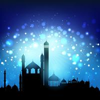 Silueta, de, mesquitas vetor