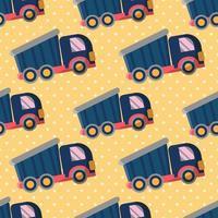 ilustração de padrão sem emenda de brinquedo de caminhão