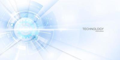 pôster abstrato branco com ilustração vetorial de tecnologia de rede dinâmica vetor