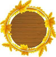 modelo de quadro redondo de folhas de outono vetor