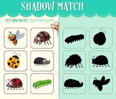 jogo sombra para crianças vetor