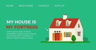 modelo de página da web de desembarque de renovação de casa. venda de casas. design de layout da página inicial. ilustração em vetor estilo simples.