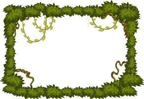 banner em branco com modelo de quadro de elementos de árvore da selva vetor