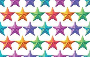padrão de estrela do mar colorido. fundo de verão vetor