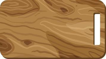 uma tábua de madeira isolada vetor