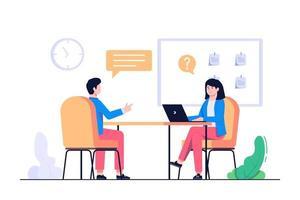 nova ilustração do conceito de entrevista com o trabalhador vetor