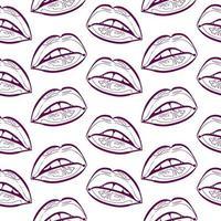 contorno de lábios sem costura padrão