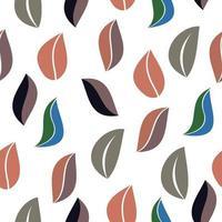 fundo sem emenda no padrão vintage do estilo da natureza. ornamento geométrico. elementos de folhas. ilustração vetorial. usar para papel de parede, papel de embalagem de impressão, têxteis. vetor