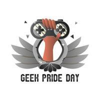 feliz dia do orgulho geek ilustração desenho vetorial vetor