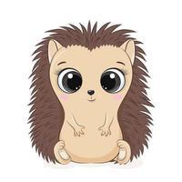 ilustração vetorial de ouriço bebê fofo vetor