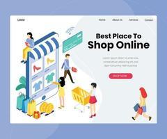 página inicial de compra de compras online