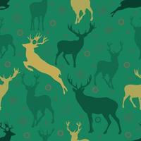 padrão sem emenda de Natal com renas e floco de neve vetor