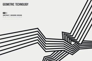 abstrato preto e branco padrão linha projeto movimento decoração fundo. ilustração vetorial vetor