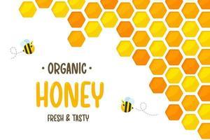 padrão hexagonal de favo de mel amarelo dourado