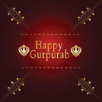 fundo criativo com símbolo sikh ek onkar feliz gurpurab vetor