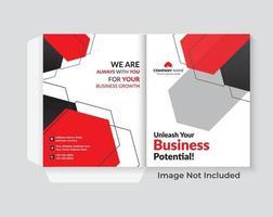 design da capa para conjunto de apresentação de pasta vetor