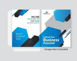 capa de design de pasta para layout de brochuras de catálogo vetor