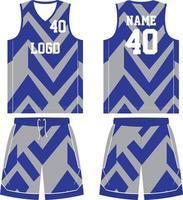 uniforme de basquete com design personalizado de camiseta esportiva vetor