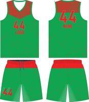 maquetes de design personalizado de uniforme de basquete vetor