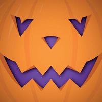 fundo de abóbora de halloween do vetor. abóbora rosto assustador design para o halloween.