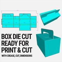 template cortado com pré-visualização em 3D organizado com corte, vinco, modelo e dimensões prontas para cortar e imprimir, desenho vetorial vetor