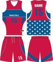 uniformes de basquete reversíveis com design personalizado vetor